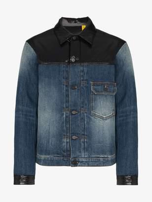 Moncler Genius 7 Fragment feather down nylon laqué denim jacket