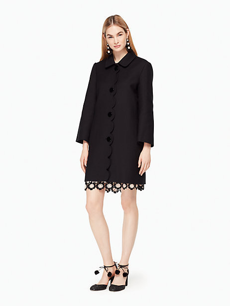 Kate Spade Scallop twill coat