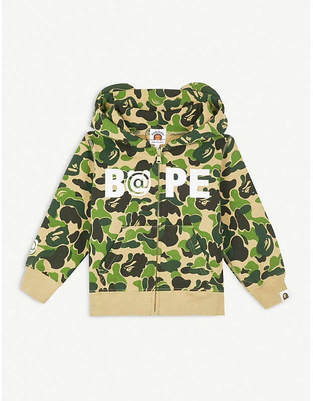 Camouflage-print cotton-jersey hoody 4-8 years