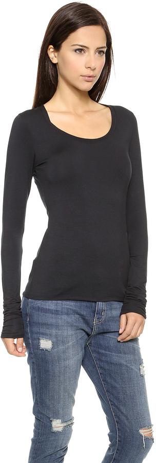 Bop Basics Long Sleeve U Neck Tee