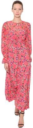 Saloni FLORAL PRINTED SILK CHIFFON MAXI DRESS