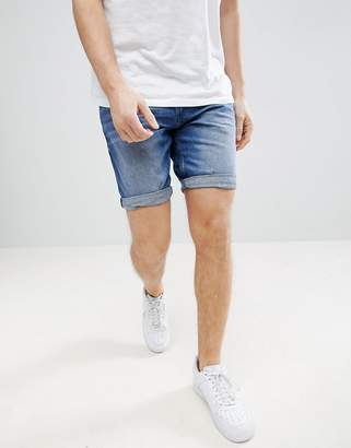 Tom Tailor Slim Fit Denim Shorts In Mid Wash Blue