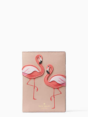 Kate Spade By the pool flamingo passport holder