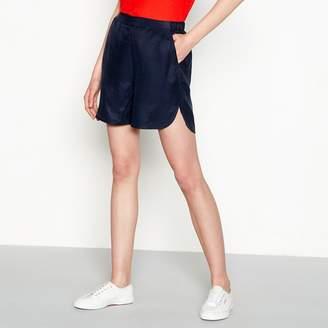 Minimum Navy Satin 'Jasmine' Loose Fit Jogger Shorts