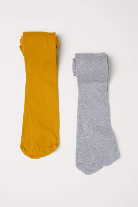 H&M 2-pack Tights - Yellow