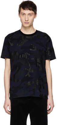 Valentino Navy Camo T-Shirt