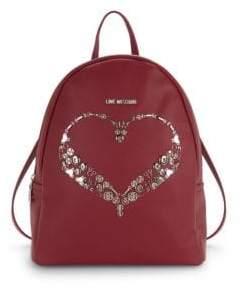 Love Moschino Embellished Heart Backpack