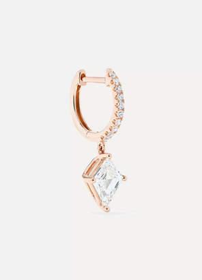 Anita Ko Huggie 18-karat Rose Gold Diamond Earring