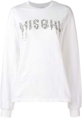 Misbhv logo studded sweatshirt