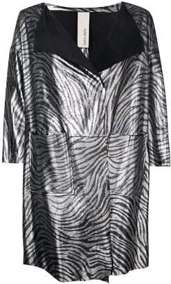 Giorgio Brato metallic zebra print coat
