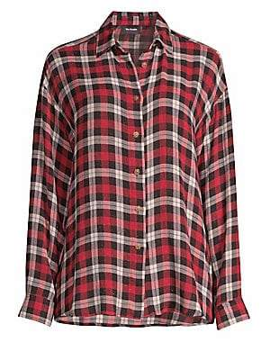 The Kooples Women's Plaid Button-Front Shirt