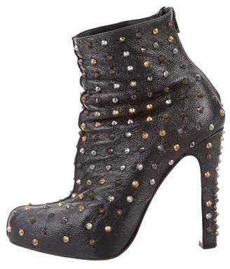 Christian Louboutin Stud-Embellished Ankle Boots