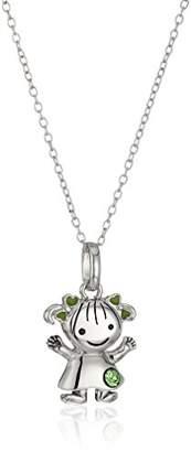 Hallmark Jewelry August Birthstone Sterling Crystal Girl Pendant Necklace