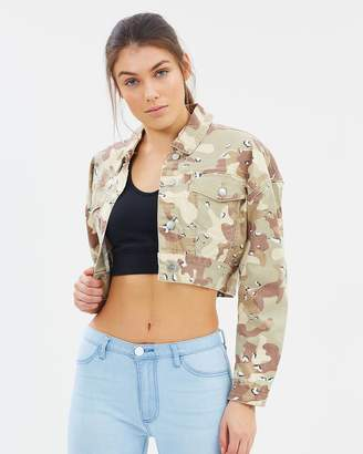 Take Flight Women's Crop Denim Jacket