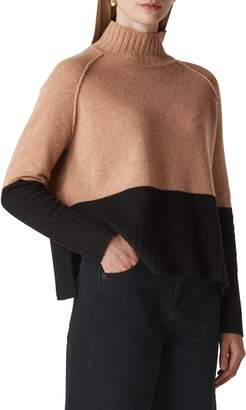 Whistles Colorblock Merino Wool Sweater