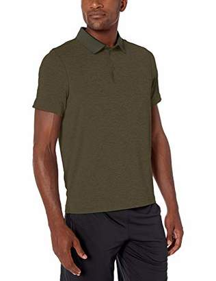 Amazon Brand - Peak Velocity Men's Tech-Stretch Short Sleeve Quick-Dry Loose-Fit Polo