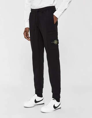 Stone Island Cotton Fleece Pant in Black