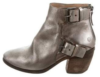 Marsèll Metallic Leather Ankle Boots