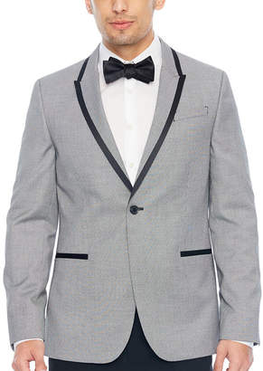 Jf J.Ferrar Pattern Super Slim Fit Tuxedo Jacket - Slim