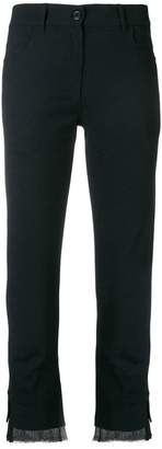 Ann Demeulemeester sheer panel cropped trousers