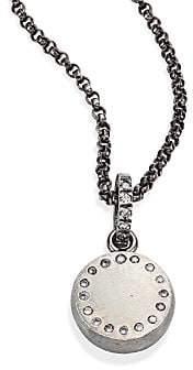 Rene Escobar Women's Small Diamond & Sterling Silver Round Pendant Necklace