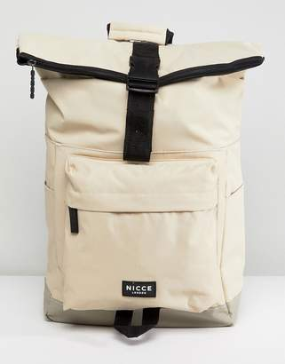 Nicce London rolltop backpack in stone