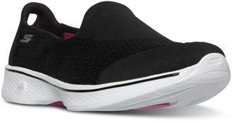 Skechers Women's GOwalk 4 - Pursuit Walking Sneakers from Finish Line $49.99 thestylecure.com