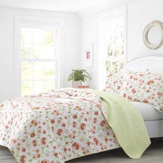 Laura Ashley Meadow Dance Cotton Reversible Quilt Set by Home