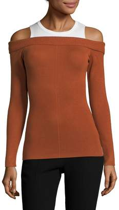 Allison Collection Women's Cold Shoulder Slim Top