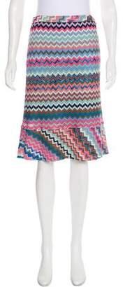 Missoni Chevron Knee-Length Skirt