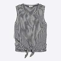 J.Crew Factory Striped tie-front tank top