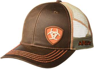 Ariat Men's Oil Orange Logo Mesh Snap Back Hat