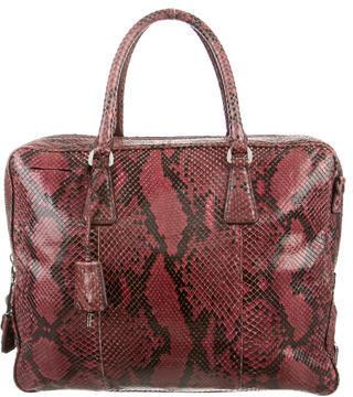 pradaPrada Python Lucido Handle Bag