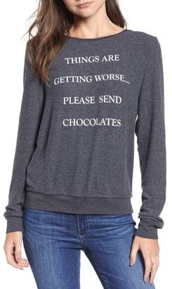 Wildfox Couture Baggy Beach Jumper - Send Chocolates Pullover