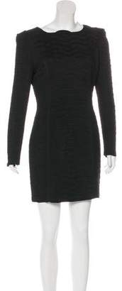 Torn By Ronny Kobo Long Sleeve Mini Dress