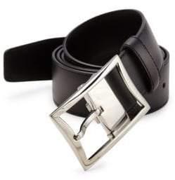 Montblanc Rectangular Buckle Leather Belt