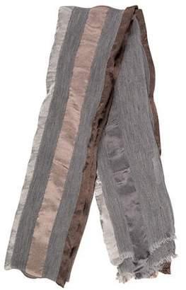 Fabiana Filippi Metallic-Accented Striped Scarf