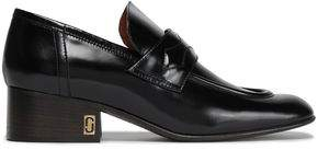Marc Jacobs Glossed-leather Loafers