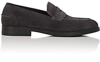Salvatore Ferragamo Men's Ayden Suede Penny Loafers - Dark Gray