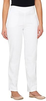 Denim & Co. Pull-On Front V-Yoke Jeans with Pockets
