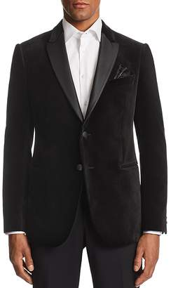 Emporio Armani M-Line Contrast-Collar Velvet Tailored Fit Jacket