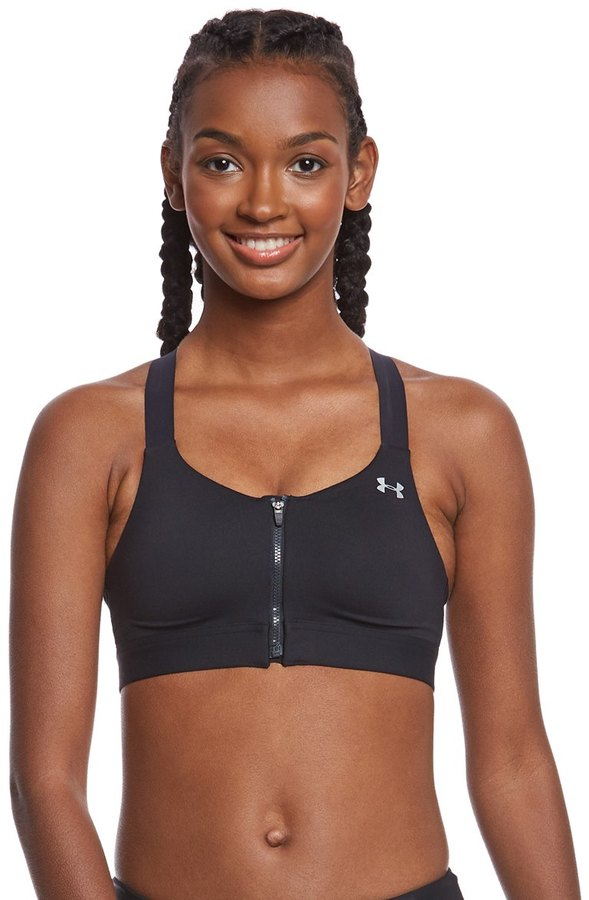 Under Armour Women's Eclipse High Zip Front Sports Bra 8161554