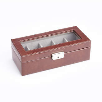 Royce Leather Royce New York 5 Slot Watch Display Case