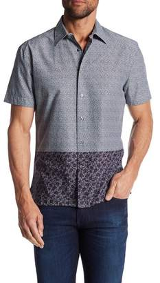 Perry Ellis Short Sleeve Block Print Regular Fit Shirt