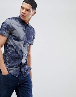 Jack and Jones Short Sleeve Shirt With Hawaiian Print