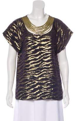 3.1 Phillip Lim Metallic Embellished Blouse