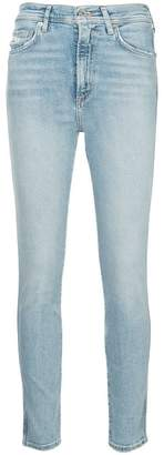 A Gold E Agolde Roxanne skinny jeans