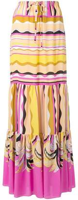 Emilio Pucci long drawstring waist skirt