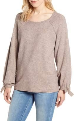 Wit & Wisdom Tie Sleeve Sweater