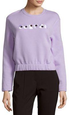 CarvenLong-Sleeve Cotton Sweatshirt